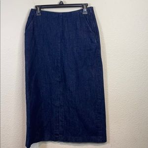 Zara Long Denim Jean Skirt